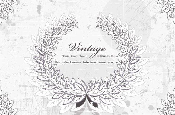 Grunge Vector Artwork Vector Laurel  Grunge 2015 01 01 047