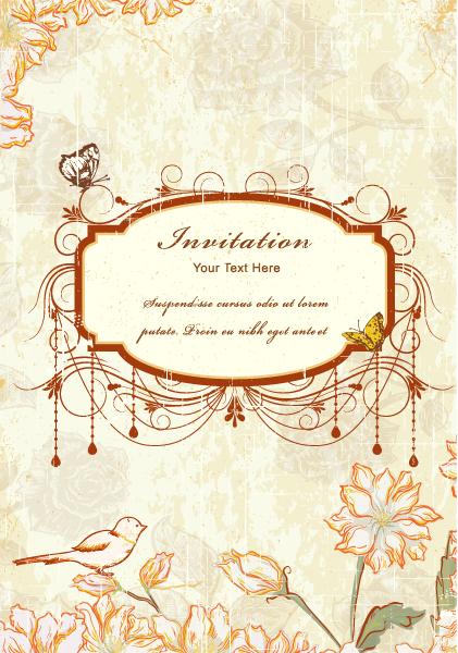 Illustration Vector Background: Vintage Frame Vector Background Illustration 5