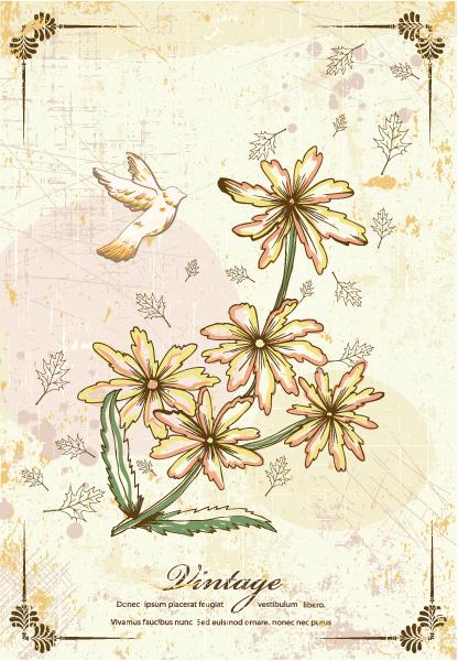 Special Illustration Vector Illustration: Vintage Floral Vector Illustration Illustration 2015 01 01 069