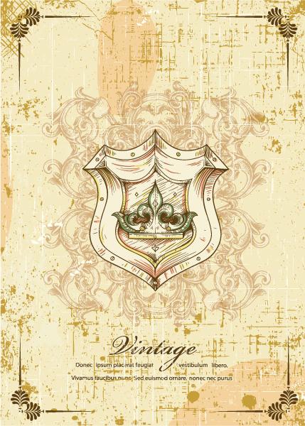 Vintage Vector Image: Vintage Shield Vector Image Illustration 5