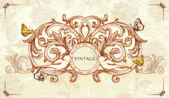 Frame Eps Vector: Vintage Frame Eps Vector Illustration 2015 01 01 076