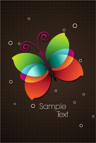 colorful butterfly vector illustration Vector Illustrations vector