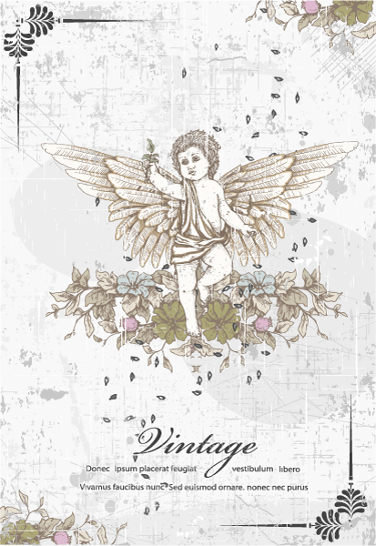 angel with floral vector illustration 2015 01 01 094