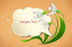 vector spring frame with floral Vector Illustrations floral