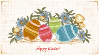 easter background with eggs vector illustration Vector Illustrations old