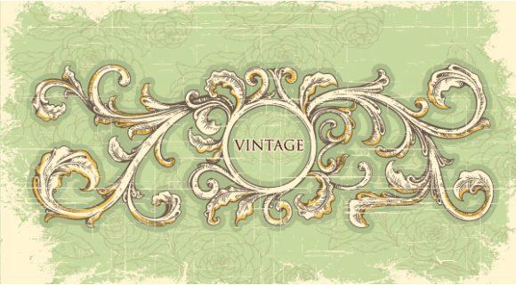grunge vintage frame vector illustration Vector Illustrations old