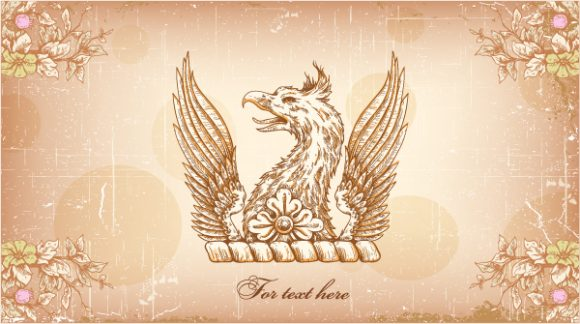 griffin with floral vector illustration 2015 01 01 178