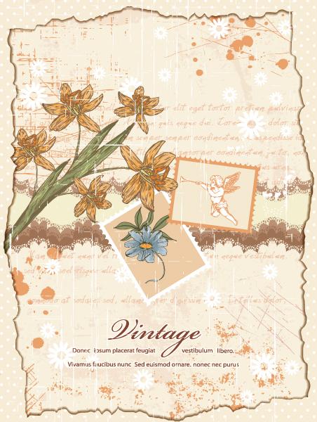 grunge floral background vector illustration 2015 01 01 190