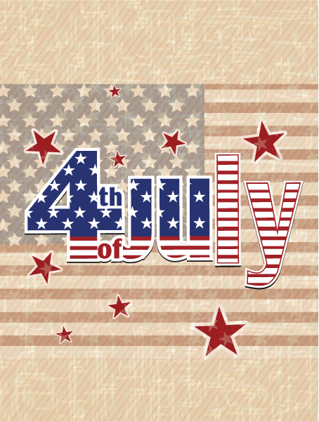 Astounding Independence Vector Illustration: Vector Illustration 4th Of July Independence Day Background 5