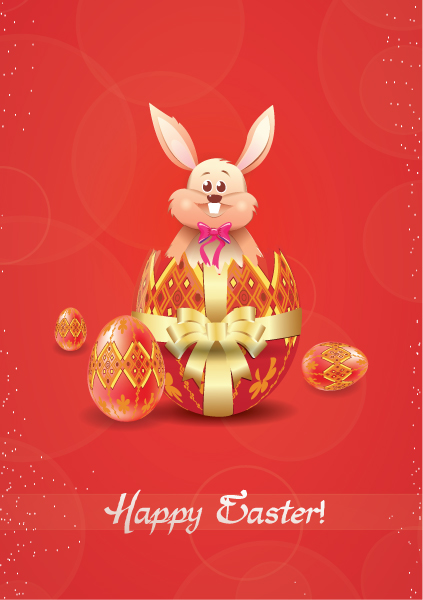 bunny with eggs vector illustration 2015 01 01 223