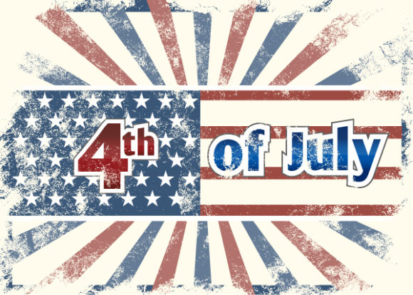 Smashing Rays Vector Art: Vector Art 4th Of July Background With Rays 5