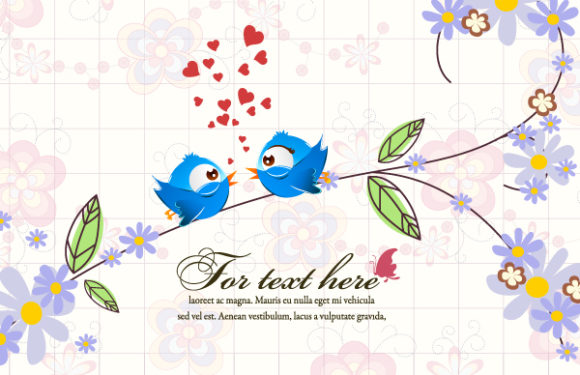 vector floral background with birds 2015 01 01 275