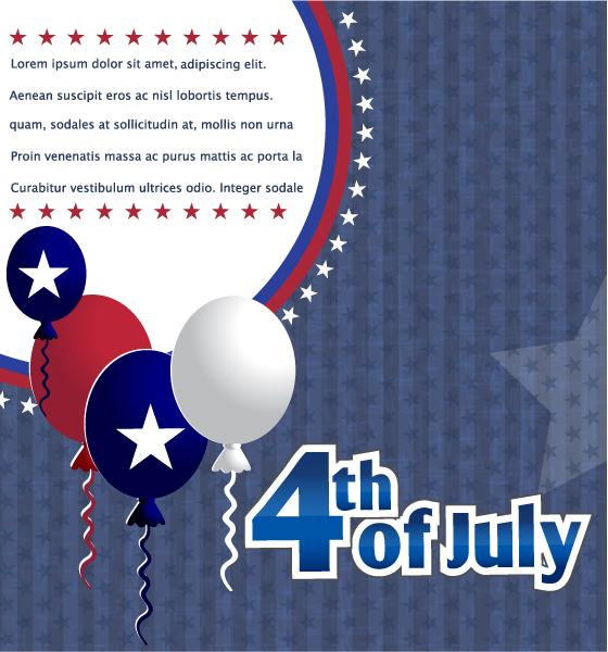 Balloon, Patriotic Eps Vector Vector 4th Of July Background  Balloons 5