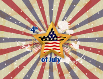 vector 4th of july background with stars Vector Illustrations star
