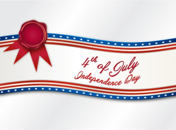 Astounding July Vector: Vector 4th Of July Background 5