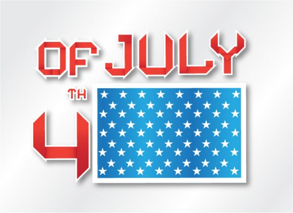 July, 4th Vector Graphic Vector 4th Of July Background 5