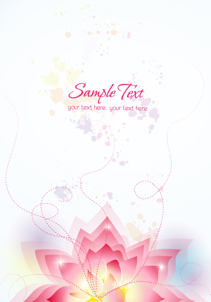 vector colorful abstract floral with splash Vector Illustrations floral