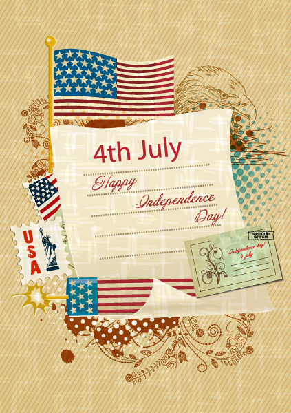 Day, Of Eps Vector Vector 4th Of July Independence Day Background 1