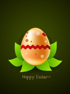 easter background with egg vector illustration Vector Illustrations floral
