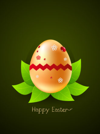 easter background with egg vector illustration Vector Illustrations floral