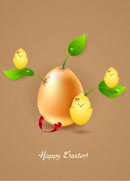 easter background with birds vector illustration Vector Illustrations floral
