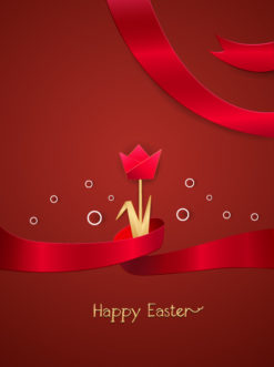 easter background with flower vector illustration Vector Illustrations vector