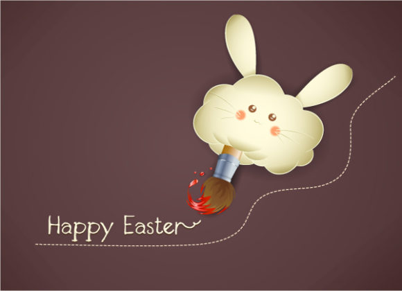 easter background with bunny face vector illustration Vector Illustrations vector