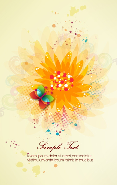 vector colorful abstract background with butterfly Vector Illustrations vector