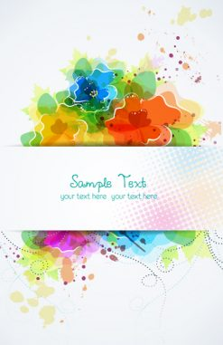 vector colorful abstract frame Vector Illustrations vector