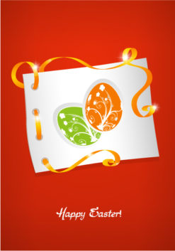 easter background with eggs face vector illustration Vector Illustrations floral