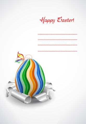 easter background with egg vector illustration Vector Illustrations vector