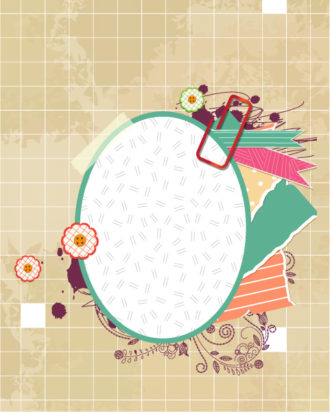 vector scrapbook elements with frame Vector Illustrations vector