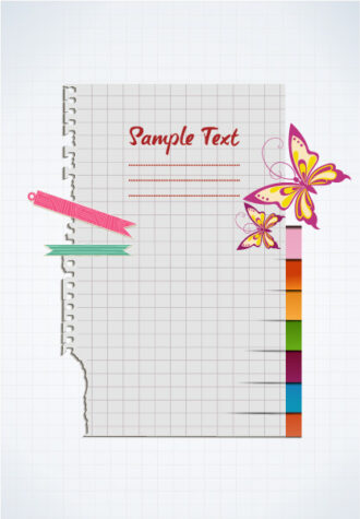 vector torn paper with butterflies Vector Illustrations vector
