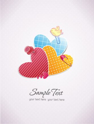 vector scrapbook elements with bird Vector Illustrations vector