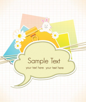 vector scrapbook elements with speech bubble Vector Illustrations vector
