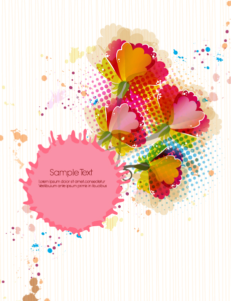 Floral Eps Vector Vector Colorful Floral Background 5