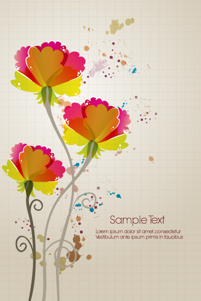 Floral Eps Vector Vector Colorful Floral Background 2015 01 01 411