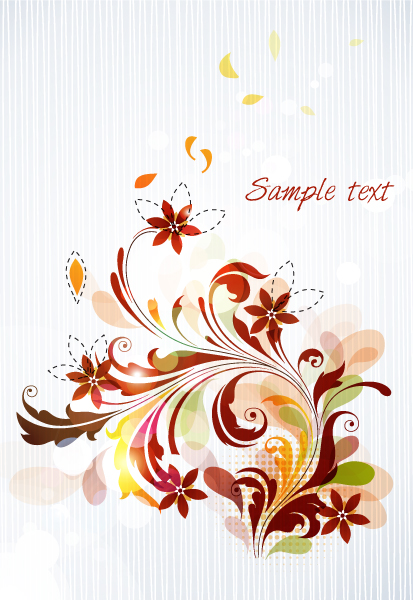 Smashing Colorful Eps Vector: Eps Vector Colorful Floral Background 5
