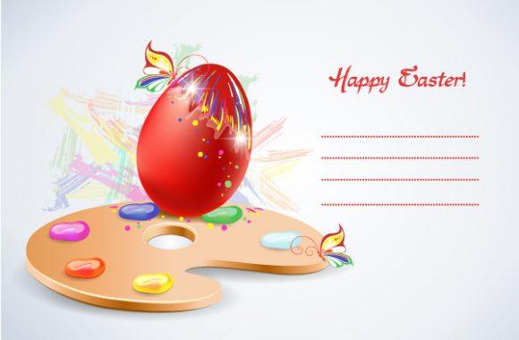 Creative, Colorful Vector Image Easter Background  Egg Vector Illustration 3