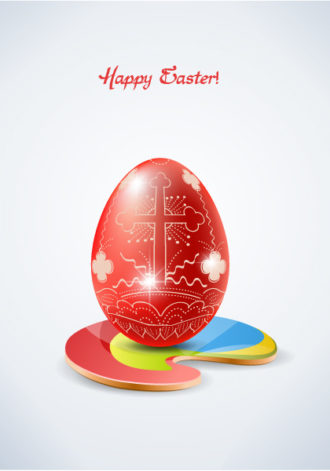 easter background with egg vector illustration Vector Illustrations star