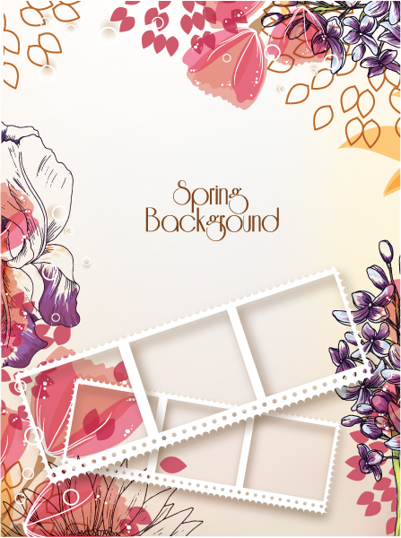 Astounding Floral-3 Eps Vector: Floral Eps Vector Background Illustration 5