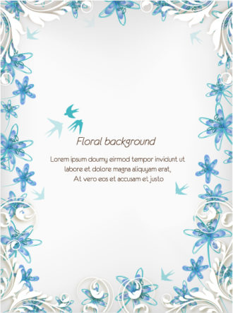 floral vector background illustration Vector Illustrations floral