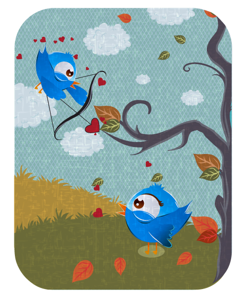 Stunning Tree Vector Background: Vector Background Abstract Illustration With Birds 2015 01 01 441