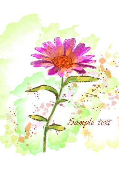 Floral Vector Art: Grunge Floral Background Vector Art Illustration 2015 01 01 445