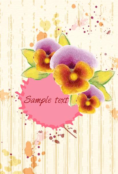 Surprising Grunge Vector Background: Grunge Floral Background Vector Background Illustration 2015 01 01 452