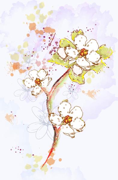 Floral, Rust Vector Artwork Background  Floral Vector Illustration 2015 01 01 503