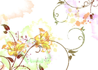 background with floral vector illustration Vector Illustrations old
