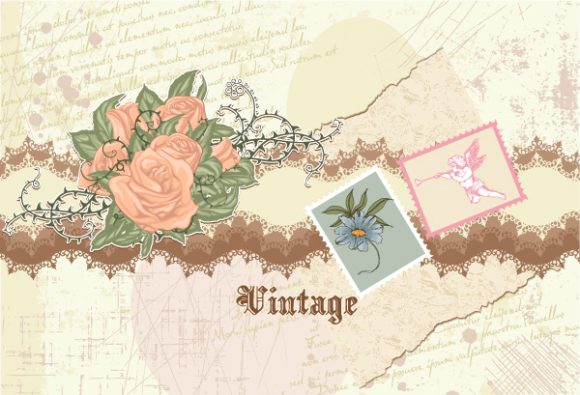 Illustration Vector Background: Vintage Floral Background Vector Background Illustration 5