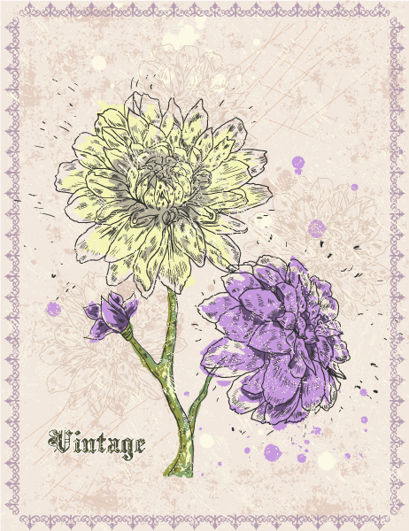 Rust Vector Background Vintage Floral Background Vector Illustration 5