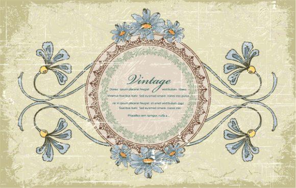 Frame Vector Artwork Vintage Floral Frame Vector Illustration 2015 01 01 525